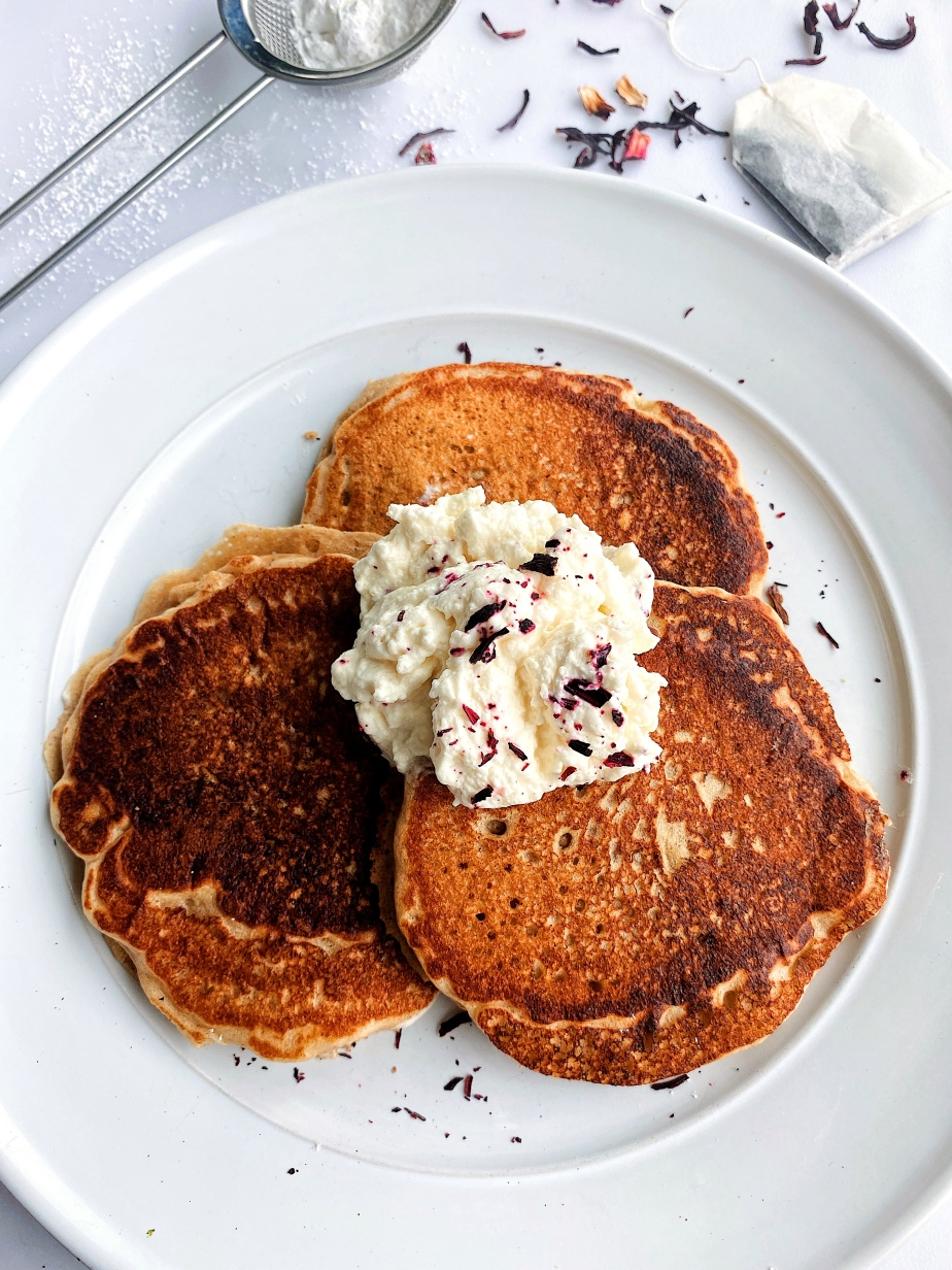 Light and Fluffy Earl Grey Infused Pancakes