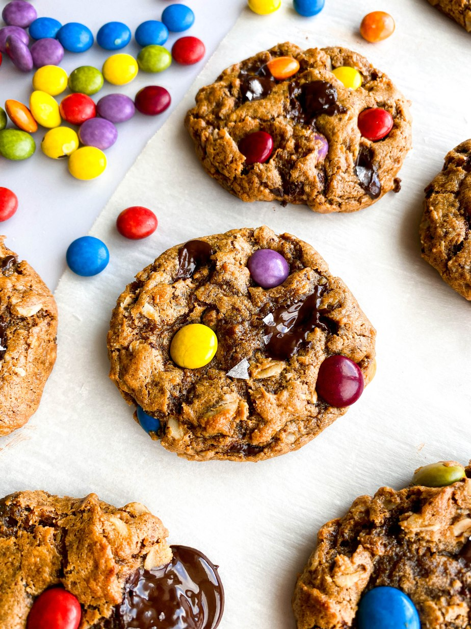 Healthy Chewy Monster Cookies
