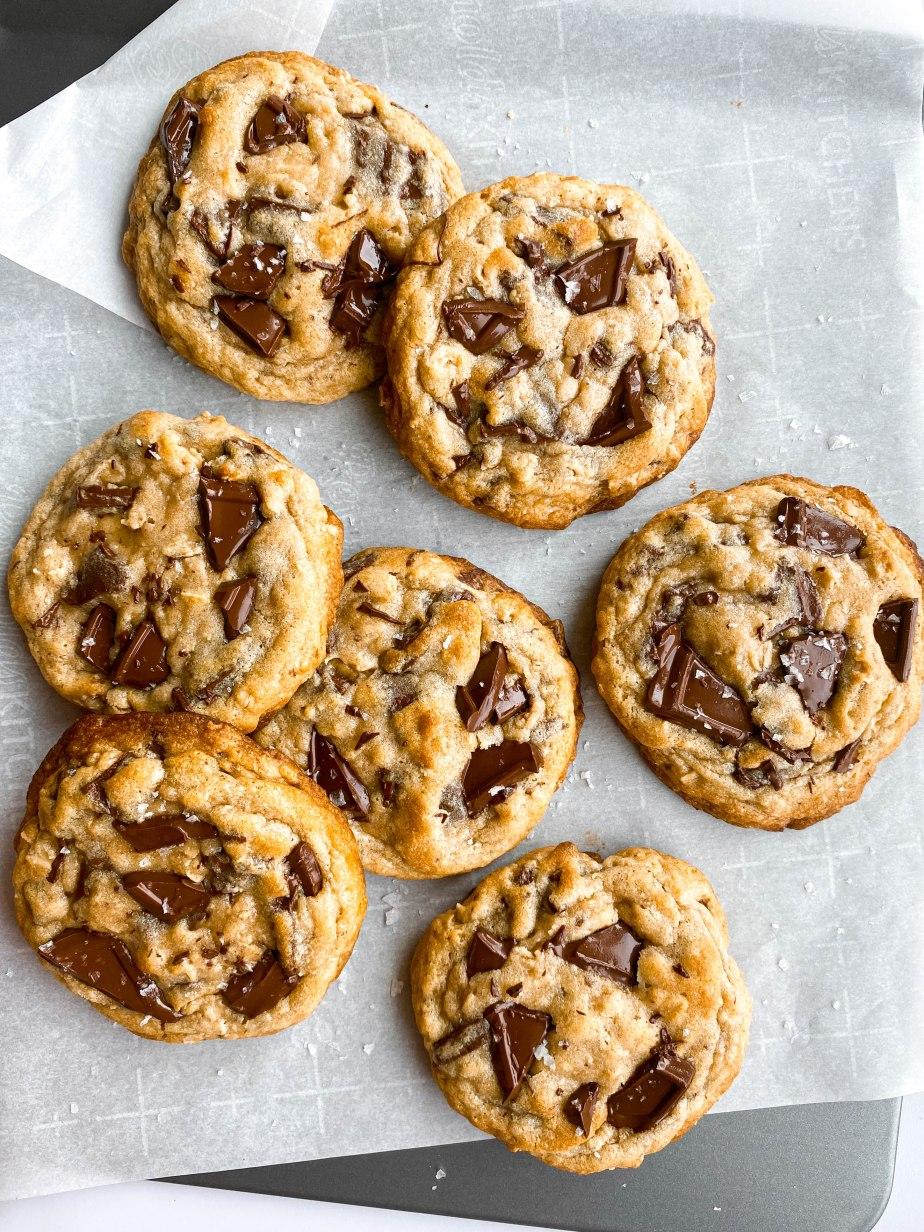 Dark Chocolate Chunk  Oatmeal Cookies with Flakey SeaSalt