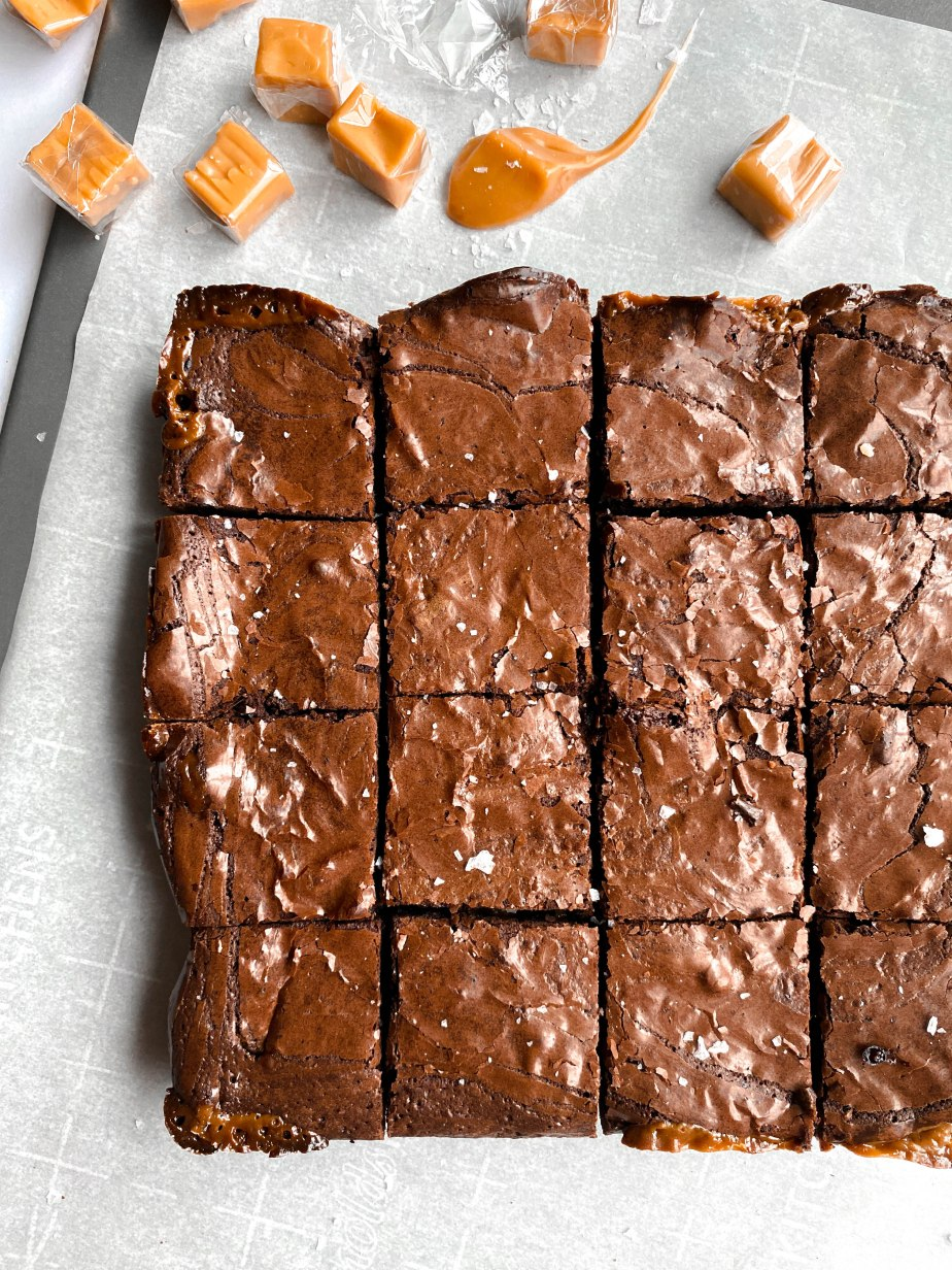 Salted Caramel Filled Fudge Brownies