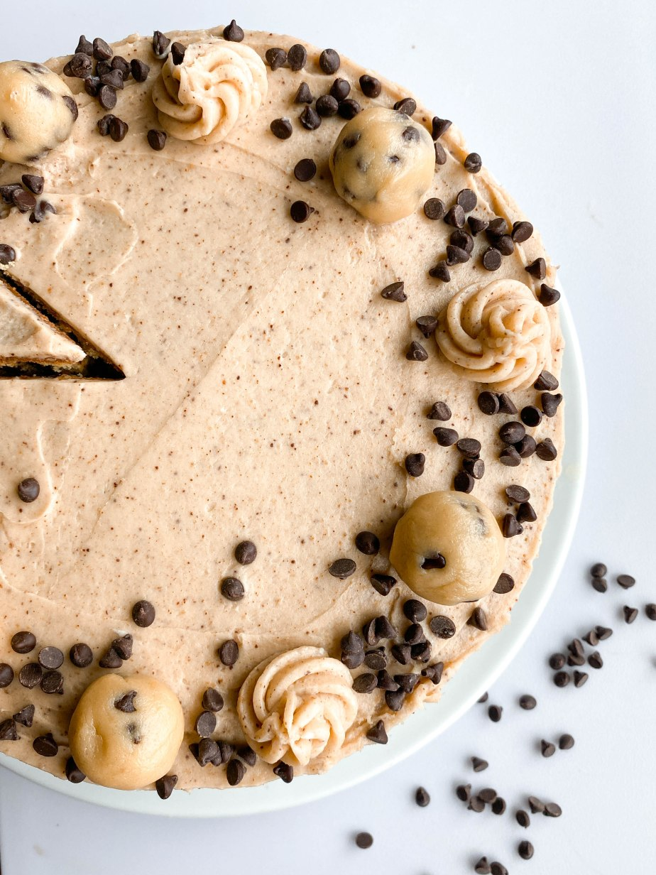 Chocolate Chip Cookie Dough Layered Cake