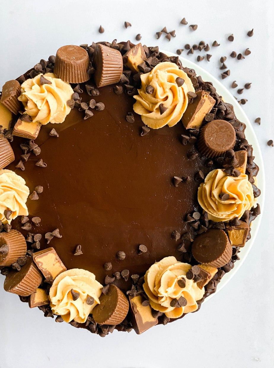 Chocolate Peanut Butter Cup LayeredCake