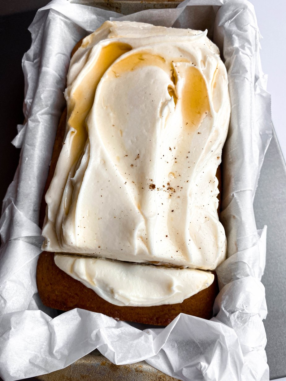 Spiced Apple Bread with a Simple Cream Cheese Frosting