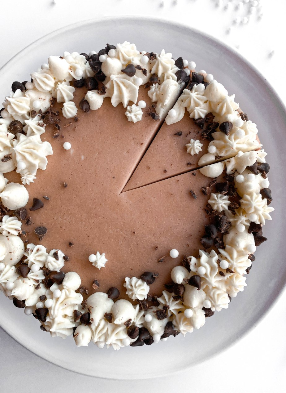 Cozy Hot Cocoa Layered Cake with MarshmallowButtercream
