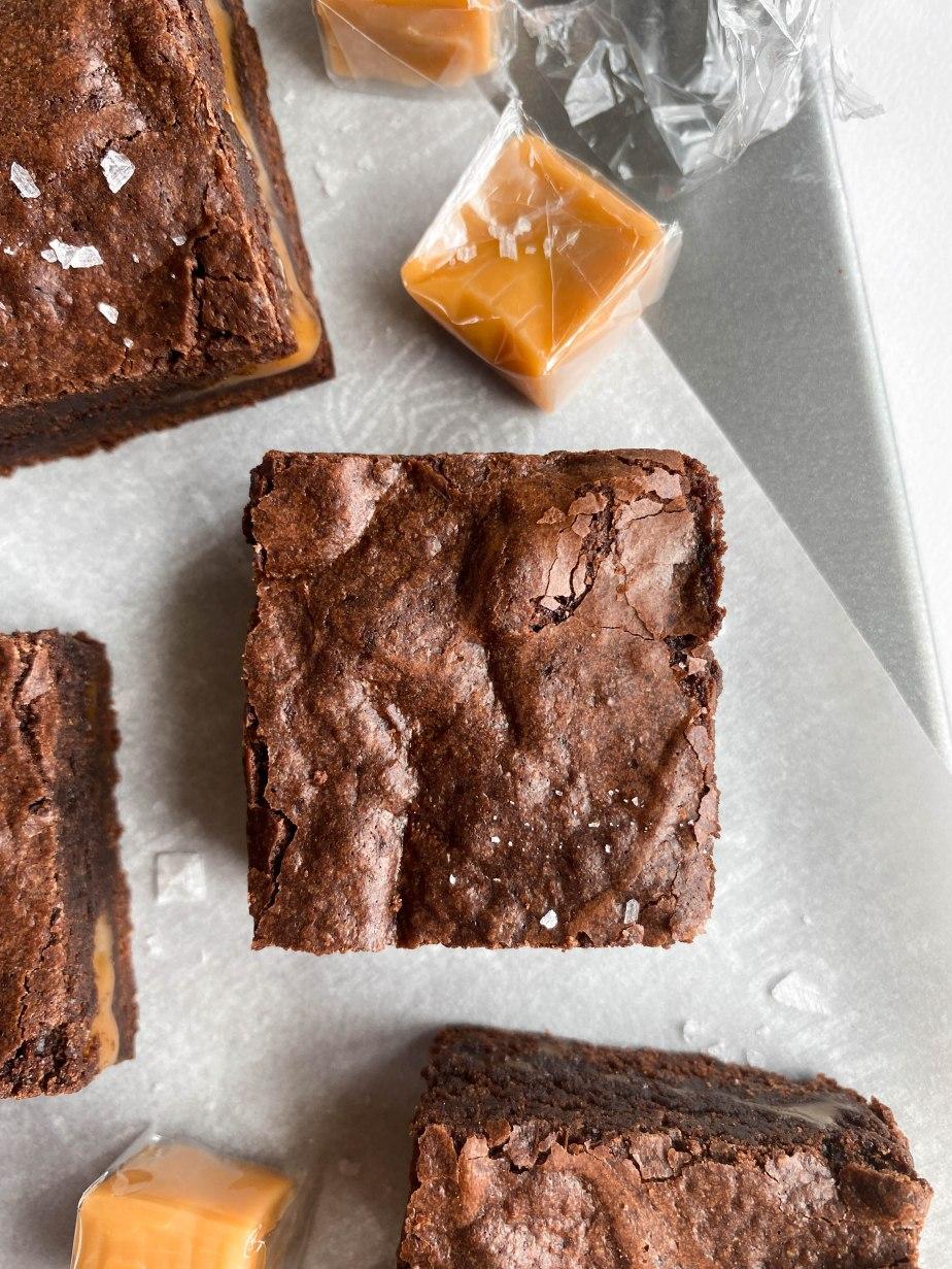 Salted Caramel Filled FudgeBrownies